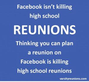 ... attending a high school reunion facebook high school reunion high