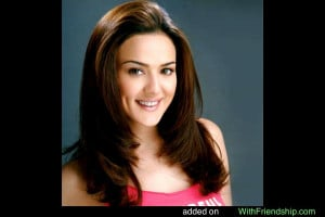 Preity Zinta is an Indian film actress