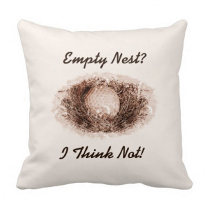 Personalized Funny Retired Empty Nest Golf Ball Throw Pillow