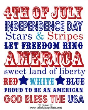 4th of July :: Patriotic Printables
