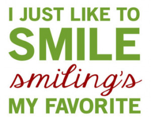 Elf Quote - Smiling's My Favorite - 11x14 - Gray, White, Yellow, Green ...