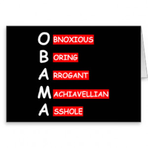 Hate Obama Gifts - Shirts, Posters, Art, & more Gift Ideas