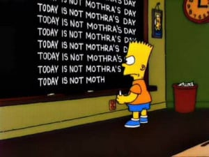 Simpsons Blackboard