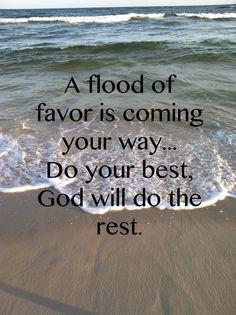 basking in God's favors