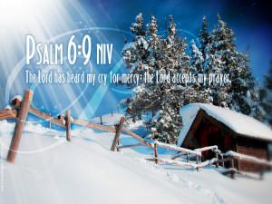 Psalm 6:9 – The lord Accepts Prayers Papel de Parede Imagem