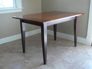 Ebonised Oak Kitchen Table