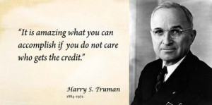Quote ... Harry S. Truman