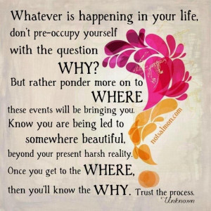 Stop asking Why
