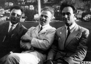 Wolfgang Pauli, Werner Heisenberg and Enrico Fermi, 1927, Lake ...