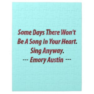 Emory Austin Inspirational, Motivational Quote. Jigsaw Puzzles