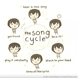 cute, life, love, music cycle, pretty, quote, quotes