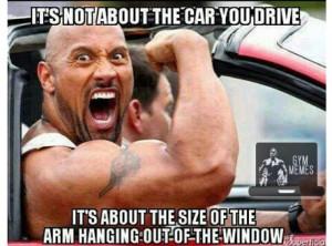 Dwayne The Rock Johnson drives an awesome car no matter what. Gym ...
