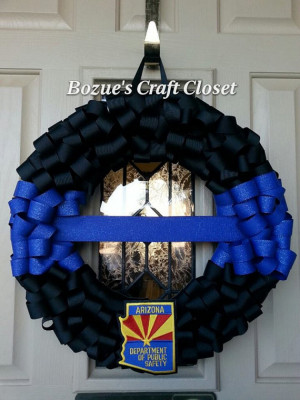 ... enforcement, police memorial, thin blue line, fallen officer wreath