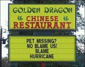Hurricane Irene Devastates Chinese Restaurant Industry