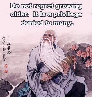 Do not regret growing older picture quotes image sayings