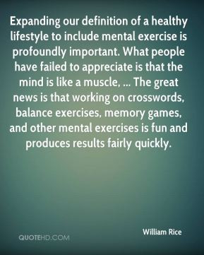 William Rice - Expanding our definition of a healthy lifestyle to ...