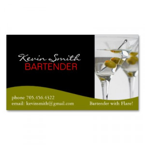 zazzle.comBartender Business Card by