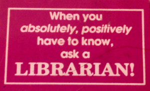 One can never have too many librarian friends.
