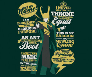 Loki Quotes T-Shirt