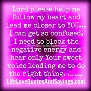 Lord Please Help Me Follow..