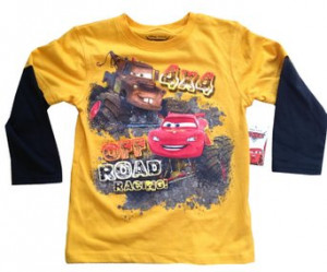 CARS - Off Road Racing - Lightning McQueen, Mater - Yellow Longsleeve ...
