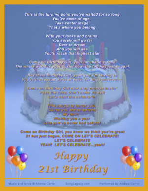 ... birthday song 21st birthday swing cd cover for 21st birthday song in