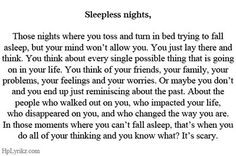 Sleepless nights More