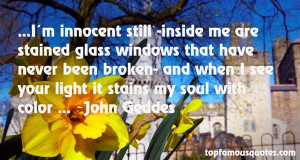 Top Quotes About Stained Glass Windows