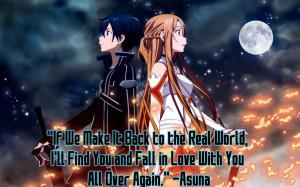 Sword Art Online - Quote from Yukki Asuna by Diamondketo