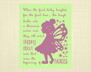 Peter Pan quote GREEN & PURPLE- Kid s art, Kids wall art, Nursery art ...