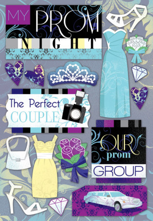 ... Foster Design - Prom Collection - Cardstock Stickers - My Prom Night