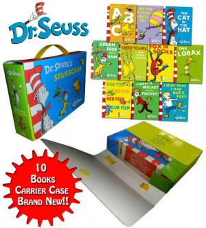 dr seuss niños libro de colección libros 10 maravillosa maleta ...