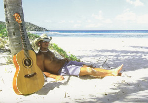 Kenny Chesney on the beach