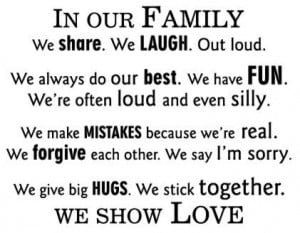 In Our Family We Show Love Wall Quotes Decal modern-wall-decals