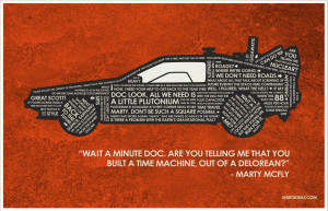 Back to the Future Back to the Future Quote Poster