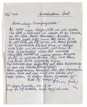 Esta es la carta de despedida que Fritz Pfeffer envi a Charlotte