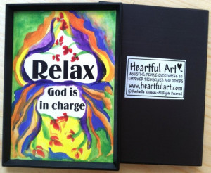 RELAX God Is In Charge MAGNET Inspirational Quote Motivational Print ...
