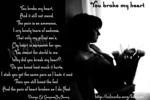you broke my heart poems