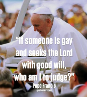Pope Francis informing the world of a belief that has been in the ...