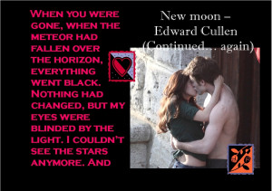Twilight Series Favourite New Moon Quote Posters
