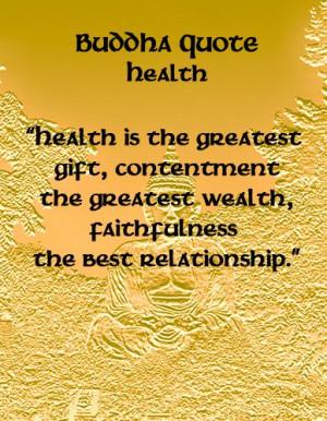 Buddha Quotes - Health