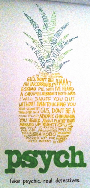 Psych Pineapple by jess-wood