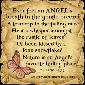 ever feel an angel s breath in the gentle breeze a teardrop in the ...
