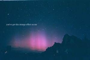 effect, northern lights, sky, stars, strange, typography