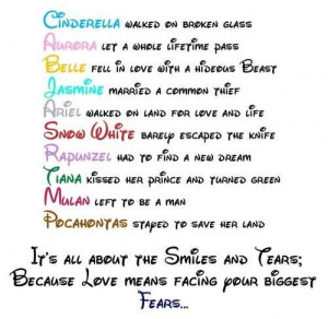 Disney princess love quotes and sayings - Words On Images: Largest ...