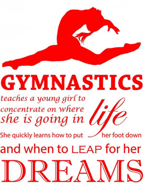 Details about Teaching Gymnastics Quote | Large Kid's Viny Room Wall ...