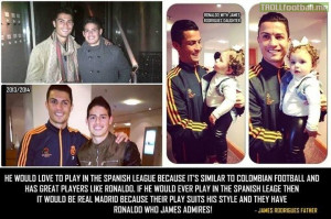 James Rodriguez' father speaking on James Rodriguez and his role model