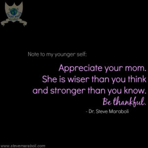 ... inspirational message about his mother's courageous battle with cancer