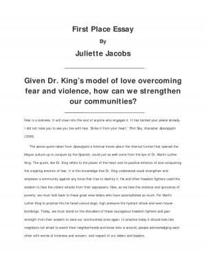 Martin luther king jr essay