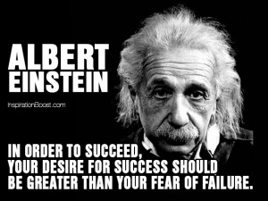 don t ever be afraid to fail because failure can actually be one of ...